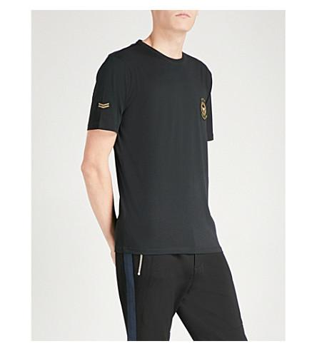The Kooples Crest Cotton T-shirt In Bla01