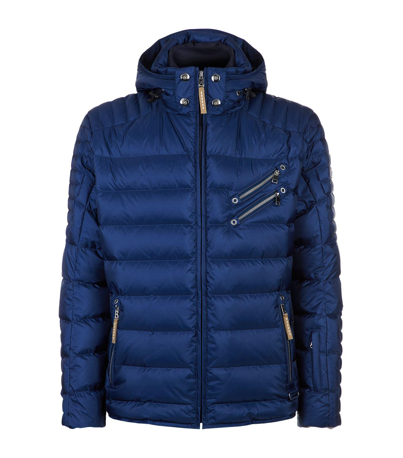 Bogner Steven Double Layer Quilted Jacket In Blue
