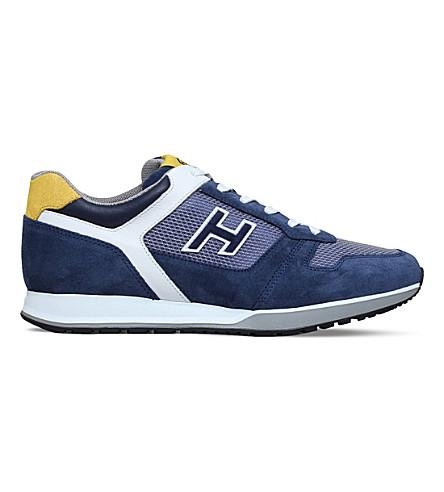 Hogan H321 Suede Trainers In Blue Other