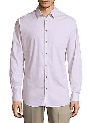Giorgio Armani Point Collar Button-down Shirt In Purple