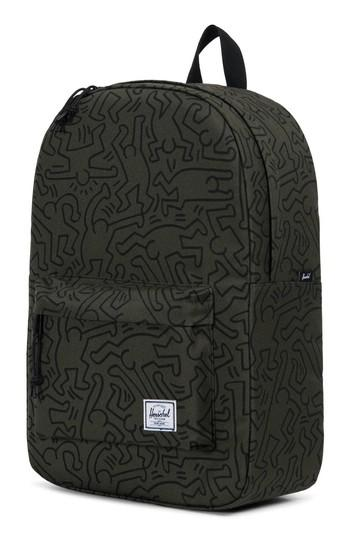 Herschel Supply Co. Winlaw X Keith Haring Backpack - Green In Forest Night Keith Haring
