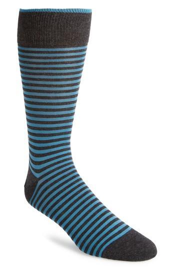 Calvin Klein Cole Haan Stripe Socks In True Royal