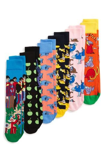 Happy Socks 6-pack Beatles Socks In Multi Color