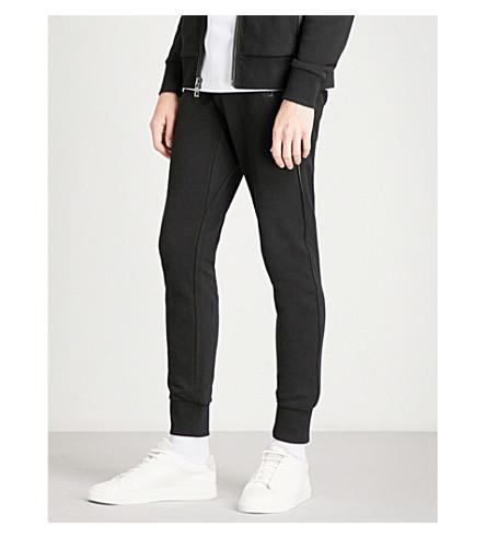 Michael Kors Skinny Mid-rise Cotton-jersey Jogging Bottoms In Black