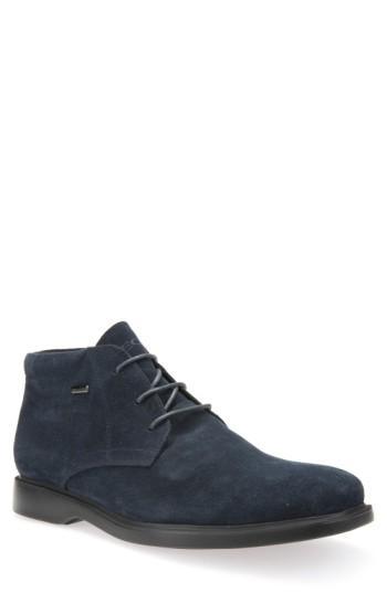 Geox 'brayden - Abx' Amphibiox Waterproof Oxford In Navy Leather