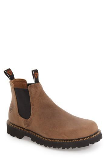 Ariat 'spot Hog' Chelsea Boot In Prairie Sand Leather