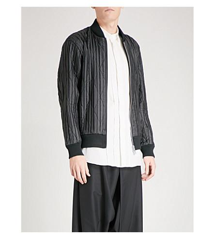 Pleats Please Issey Miyake Edge Shell Bomber Jacket In Black