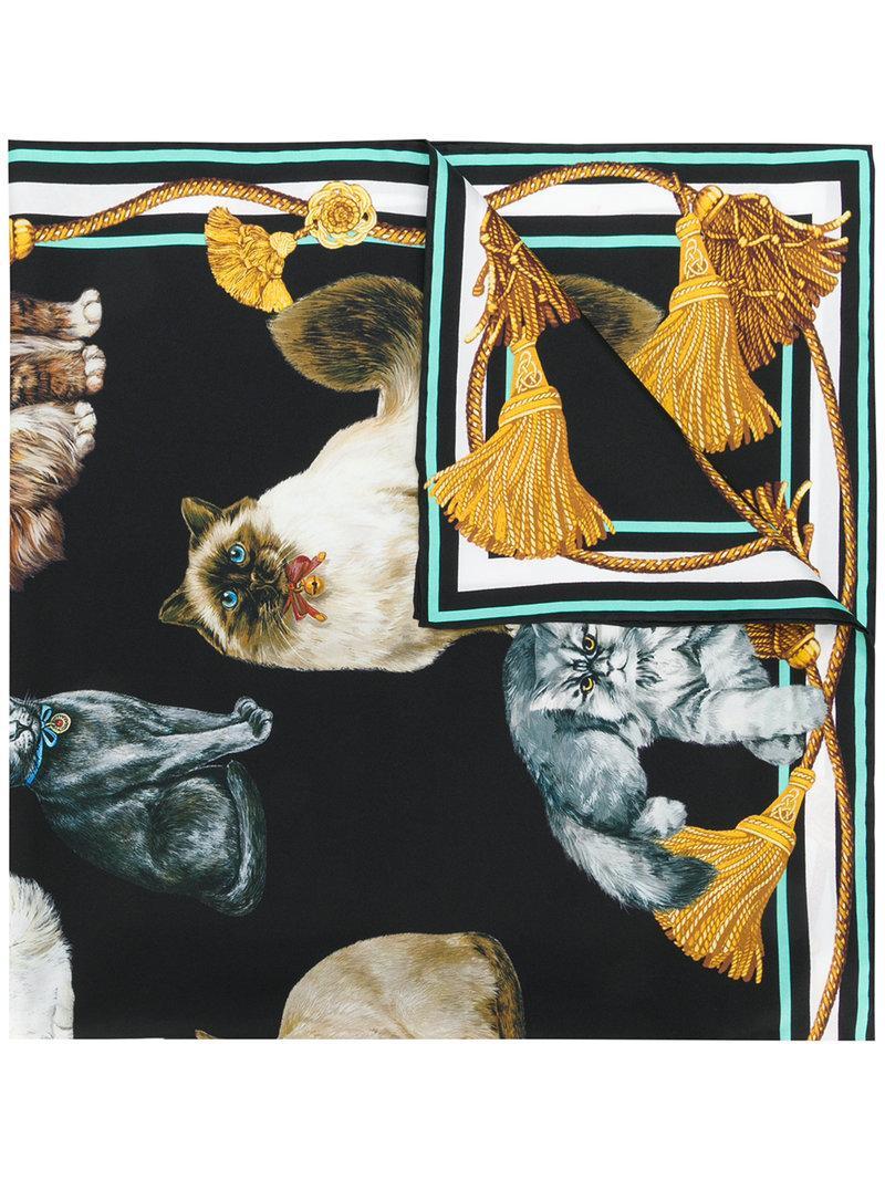 Dolce & Gabbana Cat Print Scarf