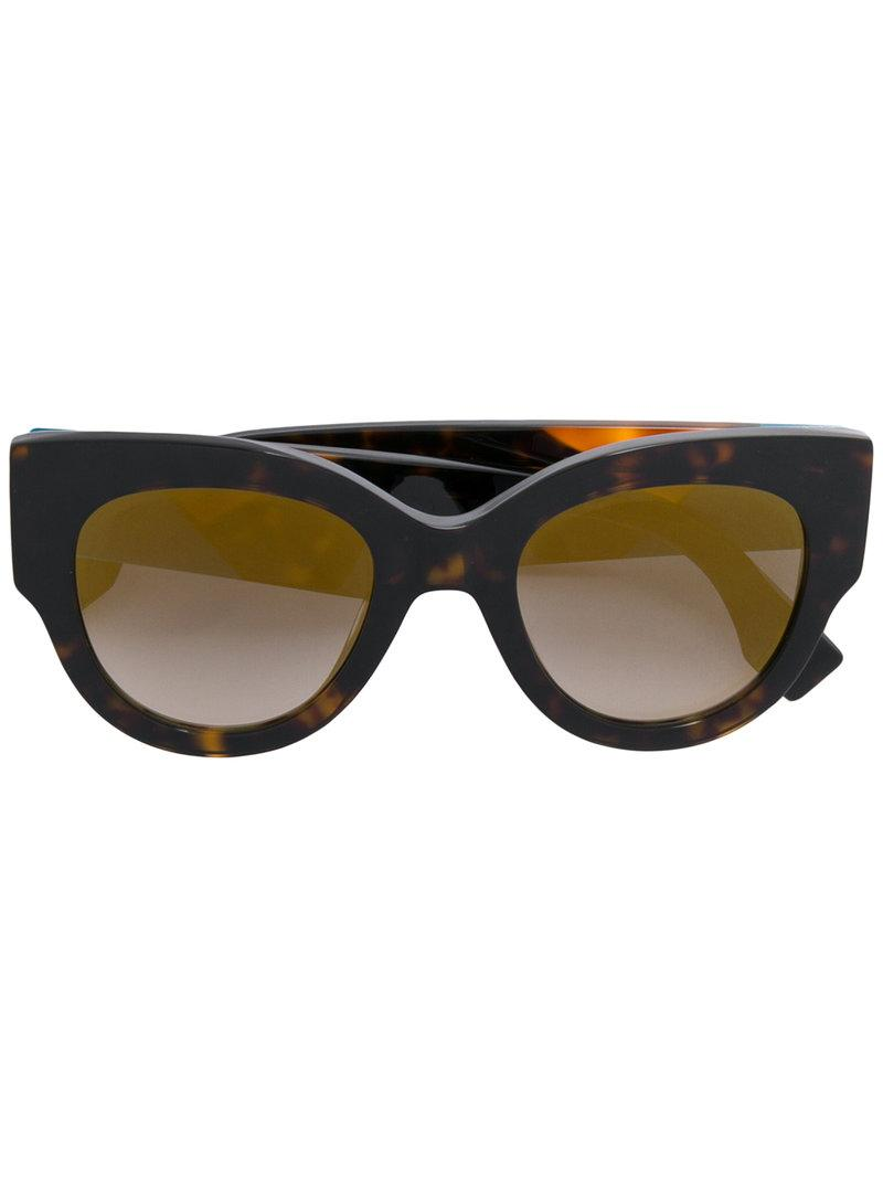 dc851638ff Fendi Eyewear Cat-Eye-Sonnenbrille Im Oversized-Design - Braun In Brown