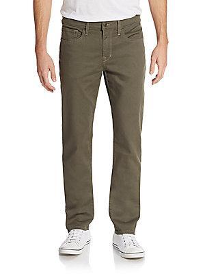 Joe's Slim-fit Twill Pants In Platinum