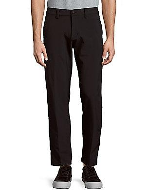 Saks Fifth Avenue Solid Flat Front Pants In Ink