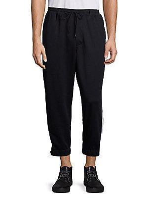 Y-3 Drawstring Waist Track Pants In Black