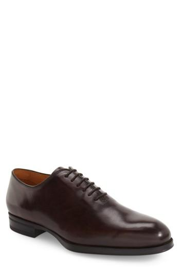 Vince Camuto 'tarby' Wholecut Oxford In Ombre Mahogany Leather