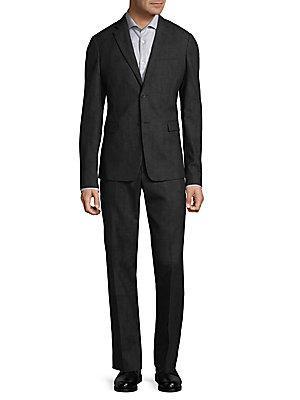 Roberto Cavalli Classic Wool Suit In Dark Grey