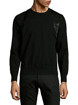 Alexander Mcqueen Harness Design Sweatshirt In Black