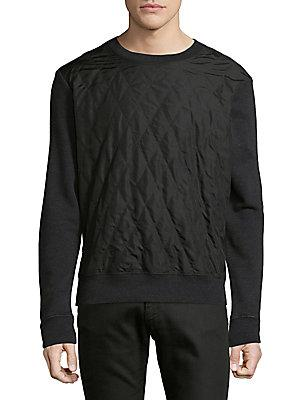 Maison Margiela Padded Pullover Sweater In Dark Grey