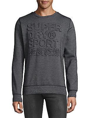Superdry Gym Tech Sweatshirt In Black