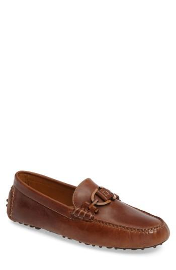 Donald J Pliner Riel Driving Shoe In Brown Leather