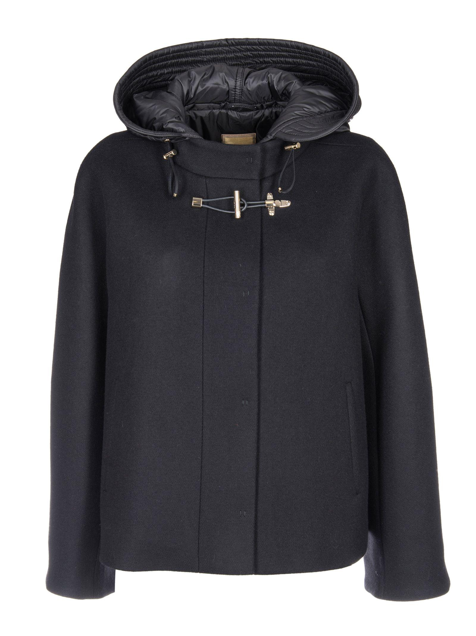 Fay Cropped Coat In Black