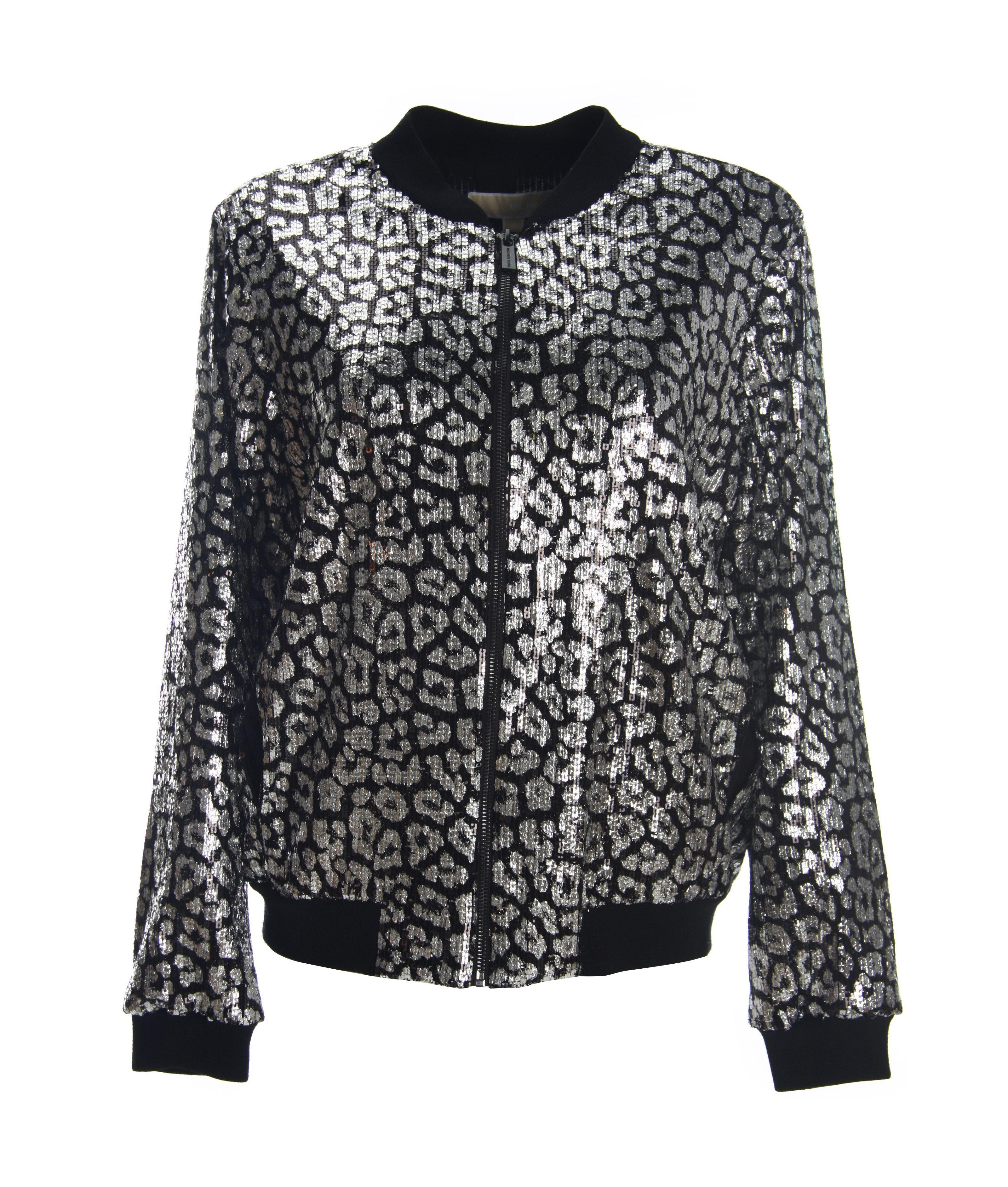 Michael Michael Kors Black Sequins Jacket