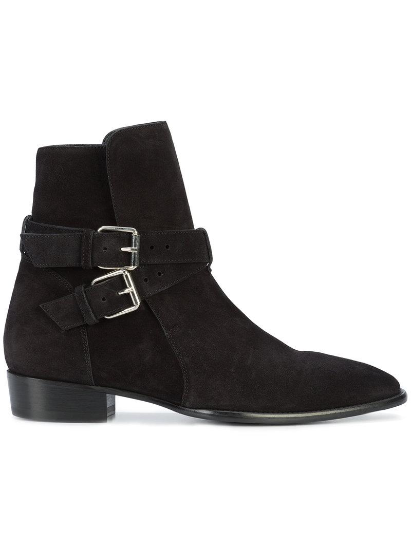 Amiri Buckle Ankle Boots - Black