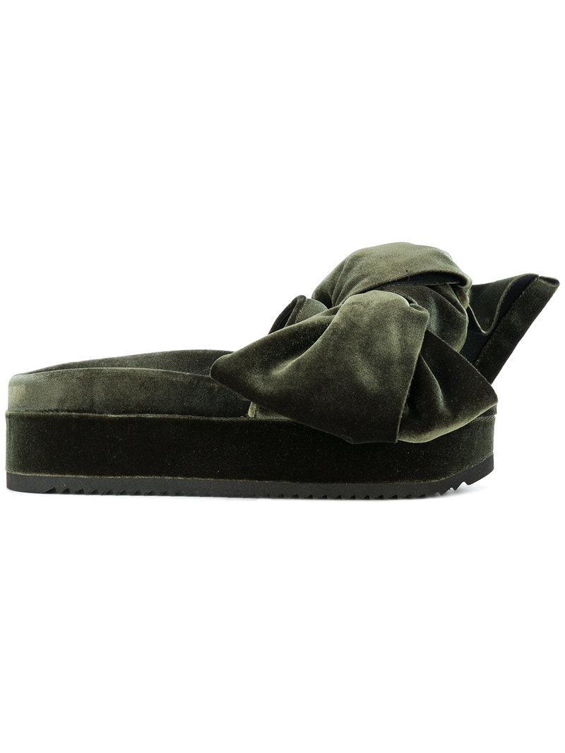 Joshua Sanders Bow Slider Sandals