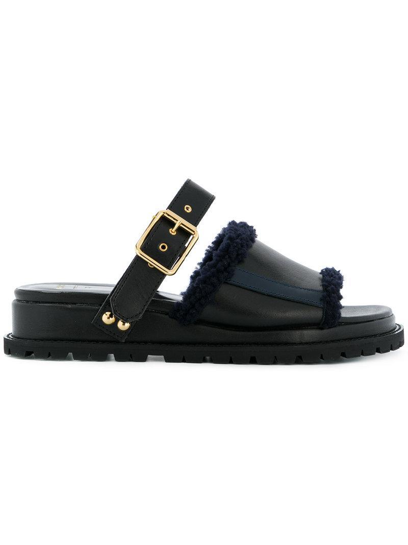 Sacai Mule Slider Sandals