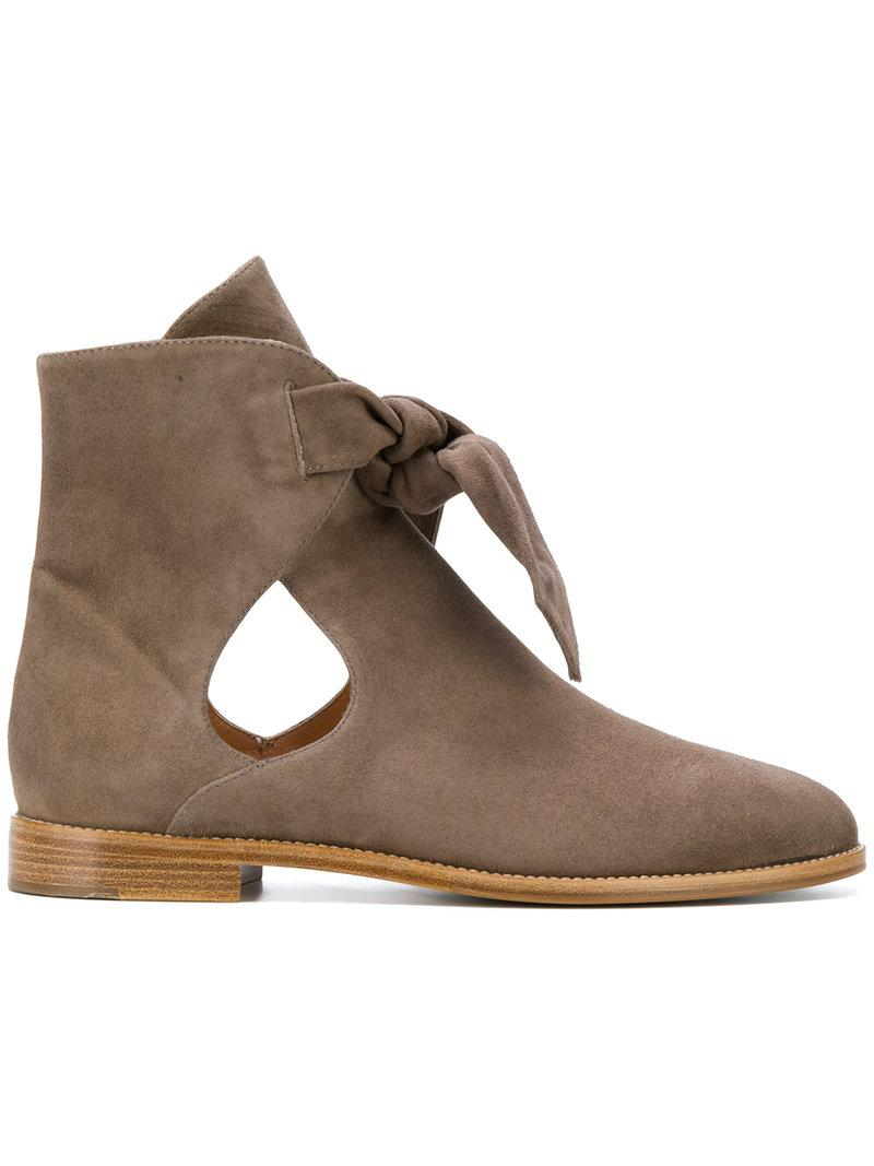 Unützer Cut-out Ankle Boots - Brown