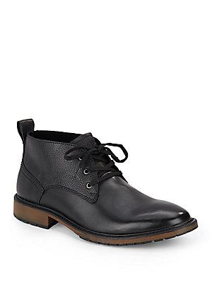 Marc New York Essex Leather Chukka Boots In Black