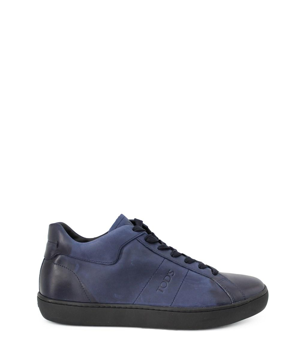 Tod's Men's  Blue Leather Sneakers