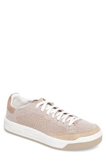 Adidas Originals Rod Laver Super Primeknit Sneaker In Khaki/ White/ Crystal White