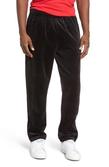 Fila Usa Slim Fit Velour Track Pants In Navy