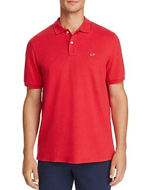 Vineyard Vines Classic Fit Stretch-pique Polo In Tomato Check