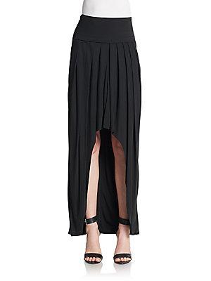Akris Asymmetrical Maxi Skirt In Black