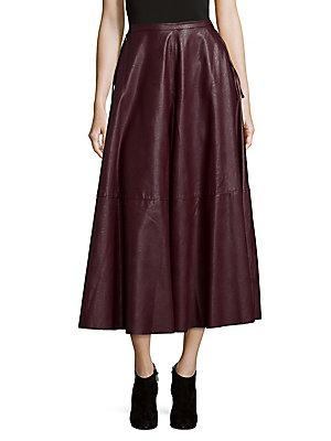 Maison Margiela Flared Midi Skirt In Red