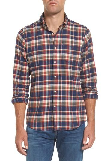 Barbour Blake Plaid Sport Shirt In Red