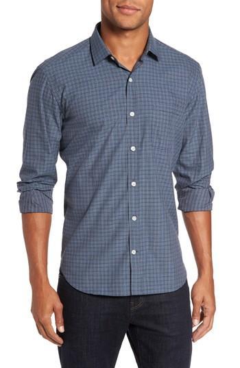 Culturata Slim Fit Plaid Sport Shirt In Blue