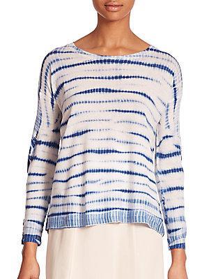 Joie Eloisa Cashmere Tie-dye Sweater In Blue