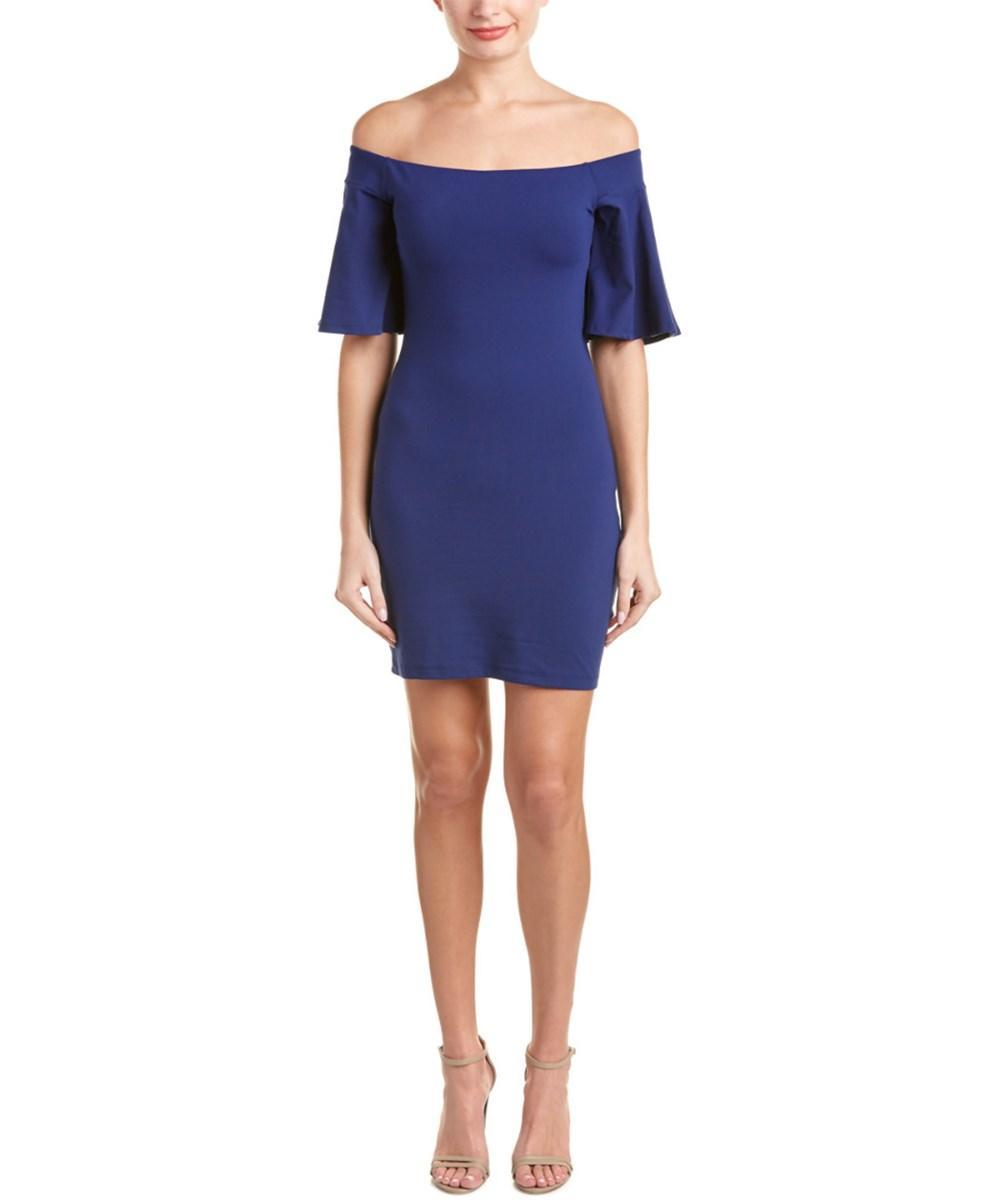 Susana Monaco Sasha Off-the-shoulder Sheath Dress In Purple