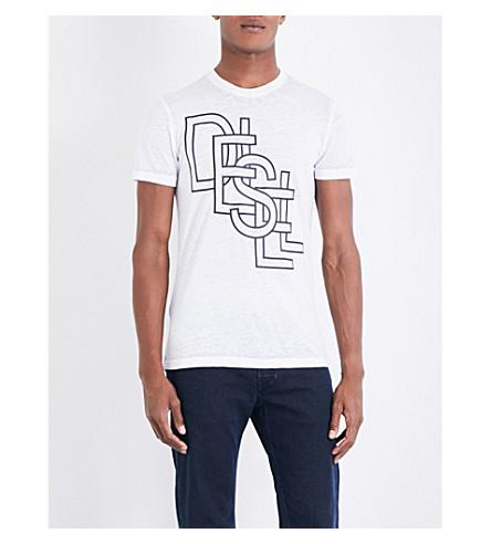 Diesel T-diego-rg Jersey T-shirt In Bright White