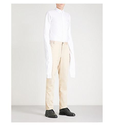 Thom Browne Elongated-sleeve Regular-fit Cotton Oxford Shirt In White
