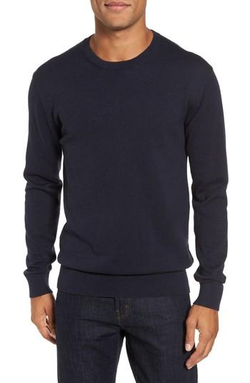 French Connection Portrait Crewneck Sweater In Marine Blue