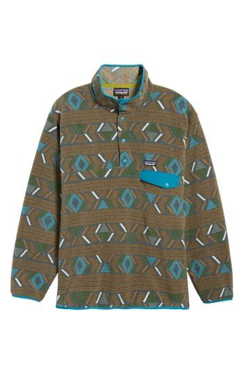 Patagonia Synchilla Snap-t Pullover In Lifecycle Bear Brown