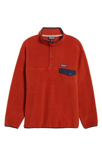 Patagonia Synchilla Snap-t Pullover In Roots Red