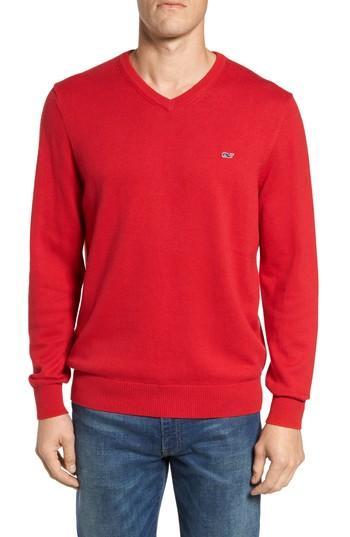 Vineyard Vines Lightweight Heathered Sweater In Charleston Green