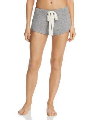 Eberjey Heather Knit Shorts In Grey Heather