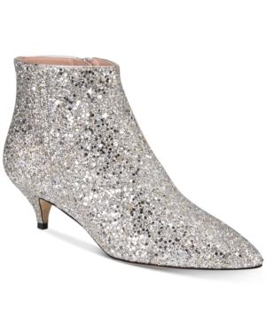 281b2003b81a Kate Spade Pointy Toe Bootie In Gold  Silver Glitter