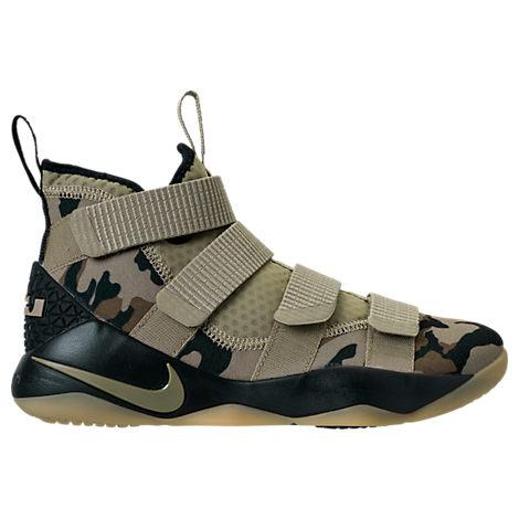 Nike Men's Lebron Soldier 11 Basketball Shoes, Brown