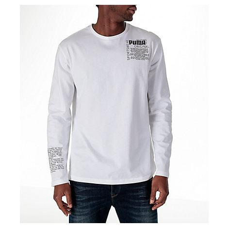 a9b37dee79b Puma Men's Disrupt Drycell Long-Sleeve T-Shirt In White | ModeSens