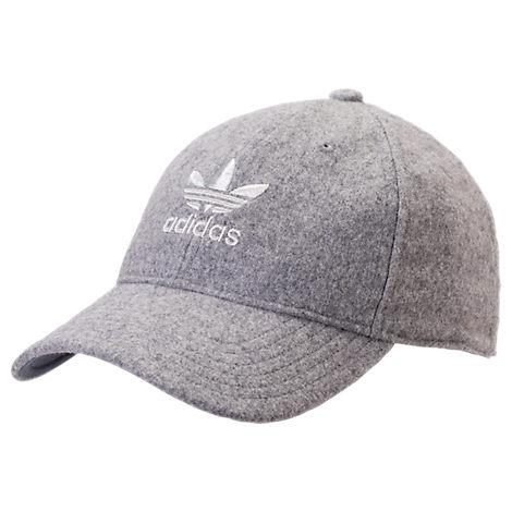 Adidas Originals Men's Originals Relaxed Plus Strapback Hat, Grey